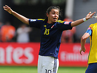 Fotball<br /> VM kvinner 2011 Tyskland<br /> 28.06.2011<br /> Sverige v Colombia<br /> Foto: Witters/Digitalsport<br /> NORWAY ONLY<br /> <br /> Yoreli Rincon (Kolumbien)<br /> Frauenfussball WM 2011 in Deutschland, Kolumbien - Schweden 0:1