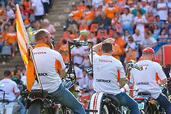 Harley Davidson riders during the Currie Cup Final between the The Free State Cheetahs and Blue Bulls held at Toyota Stadium (Free State Stadium), Bloemfontein, South Africa on the 22nd October 2016<br /> <br /> Photo by:   Frikkie Kapp / Real Time Images