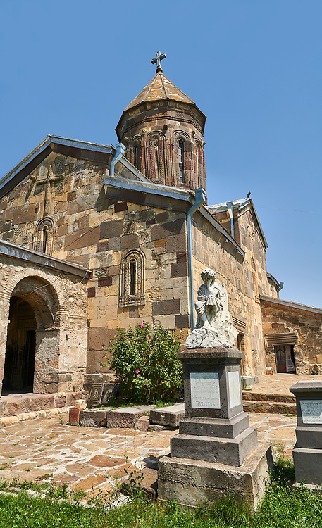 Picture & image of the Cathedral Of Transfiguration, Medieval Georgian Orthodox, 7-9th century,  Ruisi, Georgia.<br /> <br /> A typical Georgian cruciform & cupola church Ruisi Cathedral Of Transfiguration was built by King Vakhtang Gorgasali in a typical 7th century style. .<br /> <br /> Visit our MEDIEVAL PHOTO COLLECTIONS for more   photos  to download or buy as prints https://funkystock.photoshelter.com/gallery-collection/Medieval-Middle-Ages-Historic-Places-Arcaeological-Sites-Pictures-Images-of/C0000B5ZA54_WD0s<br /> <br /> Visit our REPUBLIC of GEORGIA HISTORIC PLACES PHOTO COLLECTIONS for more photos to browse, download or buy as wall art prints https://funkystock.photoshelter.com/gallery-collection/Pictures-Images-of-Georgia-Country-Historic-Landmark-Places-Museum-Antiquities/C0000c1oD9eVkh9c