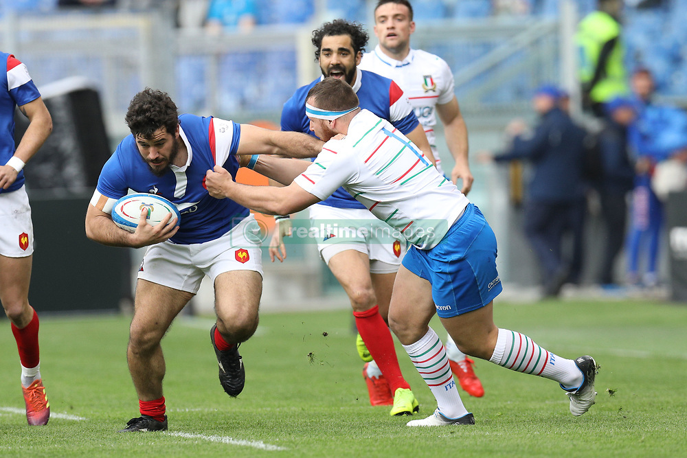 March 16, 2019 - Rome, RM, Italy - Etienne Falgoux of France during the Six Nations International Rugby Union match between Italy and France at Stadio Olimpico on March 16, 2019 in Rome, Italy. (Credit Image: © Danilo Di Giovanni/NurPhoto via ZUMA Press)