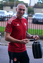 Aberdeen's Scott Brown arrives at the ground ahead of the cinch Premiership match at Pittodrie Stadium, Aberdeen. Picture date: Sunday October 3, 2021.
