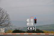 Route 77 near Nazareth, Galilee, Israel.
