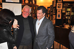 Left to right, MARELLA OPPENHEIM, DR FRIEDRICH-CHRISTIAN FLICK and LOUIS BACON at a party to celebrate the publication of Maryam Sach's novel 'Without Saying Goodbye' held at Sotheran's Bookshop, 2 Sackville Street, London on 10th November 2009.