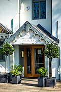 Maidenhead, Berkshire, United Kingdom, Monday, 01/03/2021, General View, Entrance to the Boathouse Restaurant, Boulters Lock, Ray Mill Island,  River Thames, Thames Valley, [Mandatory Credit; Pete Spurrier],