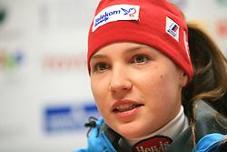 Mateja Robnik at press conference of Women Slovenian alpine team before the World Championship in Val d'Isere, France, on January 26, 2009, in Ljubljana, Slovenia. (Photo by Vid Ponikvar / Sportida).