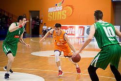 Nejc Klavzar of KK Helios Suns during basketball match between KK Helios Suns and KK Petrol Olimpija in Playoffs of Liga Nova KBM 2017/18, on March 26, 2018 in Hala Kominalnega Centra, Domzale, Slovenia. Photo by Urban Urbanc / Sportida