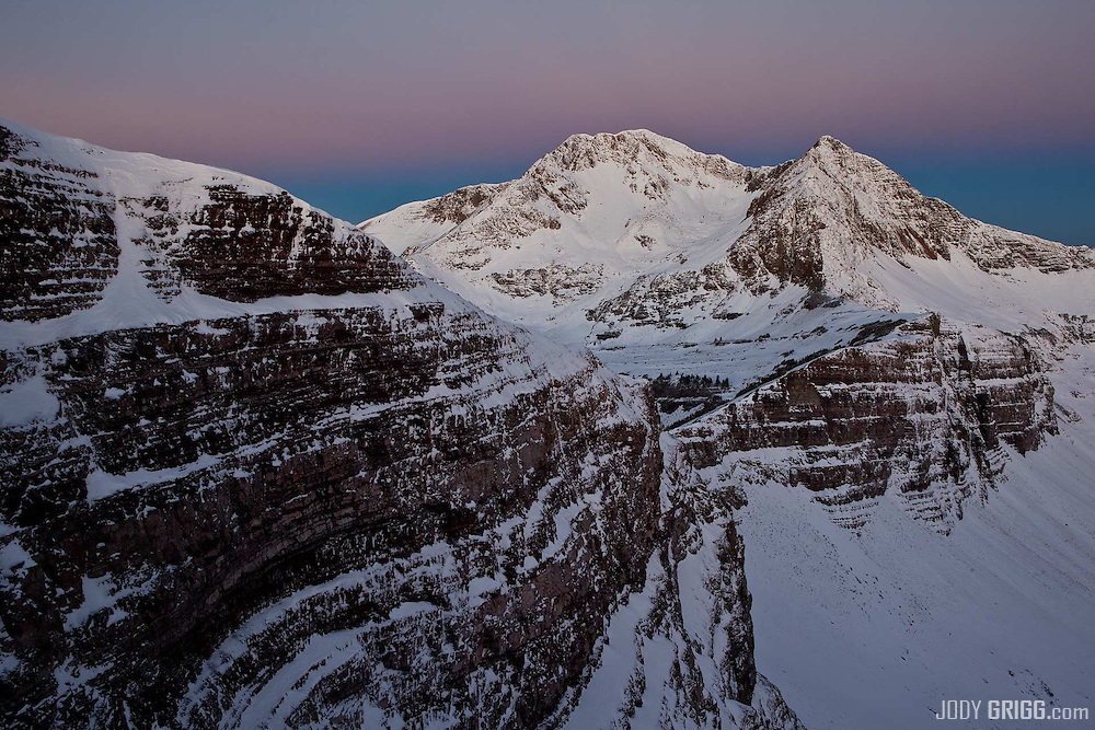 Dawn along Scarp Ridge; Owen and Ruby peaks near Crested Butte, Colorado.