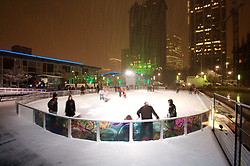 Stock photo of the ice skating rink during the holiday season