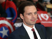 April 26, 2016 -Sebastian Stan attending 'Captain America: Civil War' European Film Premiere at Vue Westfield in London, UK.<br /> ©Exclusivepix Media