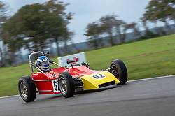 Jonathan Sadler pictured while competing in the 750 Motor Club's Historic 750 Formula race series. Picture taken at Snetterton on October 17, 2020 by 750 Motor Club photographer Jonathan Elsey