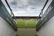 General view of the Pirelli Stadium before the EFL Sky Bet Championship match between Burton Albion and Cardiff City at the Pirelli Stadium, Burton upon Trent, England on 5 August 2017. Photo by Richard Holmes.