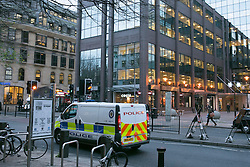 © Licensed to London News Pictures.9/12/2014. Birmingham,UK. Police in Birmingham and the West Midlands have been warned of a heightened terrorist threat Pictured, Police out and about in Birmingham City Centre earlier today. Photo credit : Dave Warren/LNP