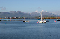View from Roundstone Connemara landscape County Galway Ireland