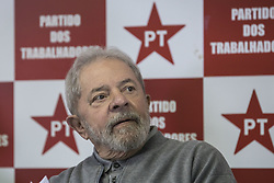 July 3, 2017 - Sao Paulo, Sao Paulo, Brazil - Jul 3, 2017 - Sao Paulo, Sao Paulo, Brazil - The former Brazilian president, Luis Inacio Lula da Silva, participated this morning (3), a meeting with the Executive of the Workers Party, at the headquarters of the State Directory, in the city of Sao Paulo  (Credit Image: © Marcelo Chello/CJPress via ZUMA Wire)