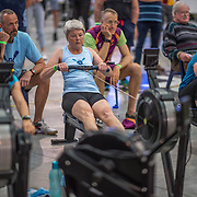 Lis Nielsen FEMALE HEAVYWEIGHT Masters G 1K Race #8  11:00am<br /> <br /> <br /> www.rowingcelebration.com Competing on Concept 2 ergometers at the 2018 NZ Indoor Rowing Championships. Avanti Drome, Cambridge,  Saturday 24 November 2018 © Copyright photo Steve McArthur / @RowingCelebration