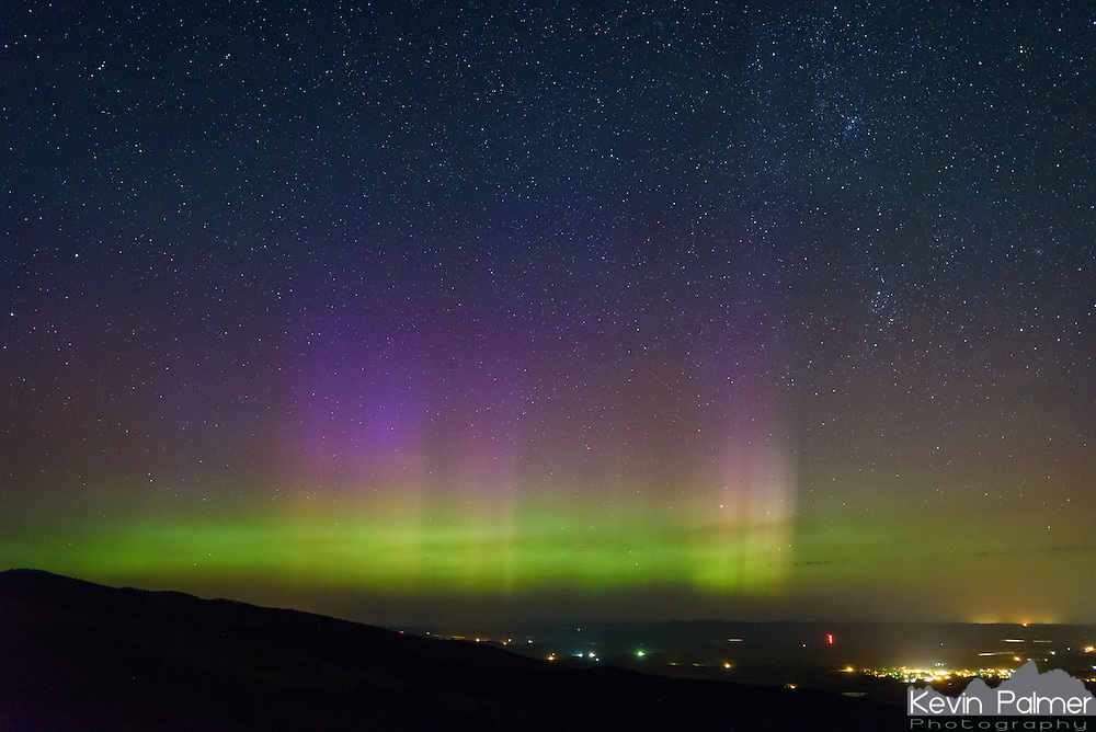 In early August the aurora made an appearance and I was able to see it for the first time this year. The sun follows an 11 year cycle where the solar activity that causes the aurora (sunspots, solar flares, coronal mass ejections) increases and decreases. As we head toward solar minimum predicted in 2019, the aurora will become increasingly rare in the mid-latitudes, but will continue to occur around the arctic. Last year I was able to witness the aurora 10 times, mostly from Illinois, but this year has been a lot different. This picture was taken from the foothills of the Bighorn Mountains above Dayton, Wyoming. It was a spot I scouted out in advance and knew it had a good view north. While I was taking pictures, a sharp gust of wind came up over the ridge. I held on to my tripod, but the wind blew my camping chair down the side of the mountain.