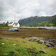 Plockton, a village located on shores of Loch Carron in the Scottish Highlands