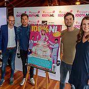 NLD/Netherlands/20190506 - 100%NL Magazine viert 10 Jarig jubileum, onthulling jubileumnummer door Nick en Simon samen met Eddy en partner Lisette Sier