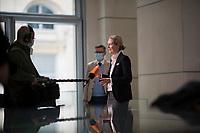 DEU, Deutschland, Germany, Berlin, 11.02.2021: Deutscher Bundestag, AfD-Fraktionschefin Alice Weidel (MdB, Alternative für Deutschland, AfD) bei einem Interview für das ZDF.