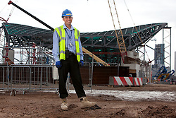 Olympic Park Portrait. Portrait of Craig Leonard, the project manager working on the construction of the Aquatics Centre. Picture taken on 18 Sep 09 by David Poultney.