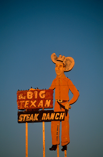 sign for the Big Texan Steak Ranch