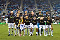 September 19, 2018 - San Jose, California, United States - San Jose, CA - Wednesday September 19, 2018: San Jose Earthquakes Starting Eleven, Kick Childhood Cancer prior to a Major League Soccer (MLS) match between the San Jose Earthquakes and Atlanta United FC at Avaya Stadium. (Credit Image: © John Todd/ISIPhotos via ZUMA Wire)
