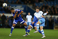 Adam Reach  of Sheffield Wednesday shoots wide of goal.  EFL Skybet championship match, Cardiff city v Sheffield Wednesday at the Cardiff city stadium in Cardiff, South Wales on Wednesday 19th October 2016.<br /> pic by Andrew Orchard, Andrew Orchard sports photography.