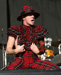 Jake Shears of Scissor Sisters on the main stage, T in the Park, Sunday 8 July 2007..T in the Park festival took place on the 6th, 7th and 8 July 2007, at Balado, near Kinross in Perth and Kinross, Scotland. This was the first time the festival had been held over three days..Pic ©Michael Schofield. All Rights Reserved..