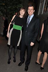 BAFTA chief executive AMANDA BERRY and PADDY BYNG MD of Asprey at the Asprey BAFTA Party held at Asprey, 167 New Bond Street, London on 11th February 2012.