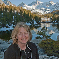 Meredith Wiltsie relaxes beside Marsh Lake, in Little Lakes Valley, at the head of Rock Creek Canyon in California's eastern Sierra Nevada.