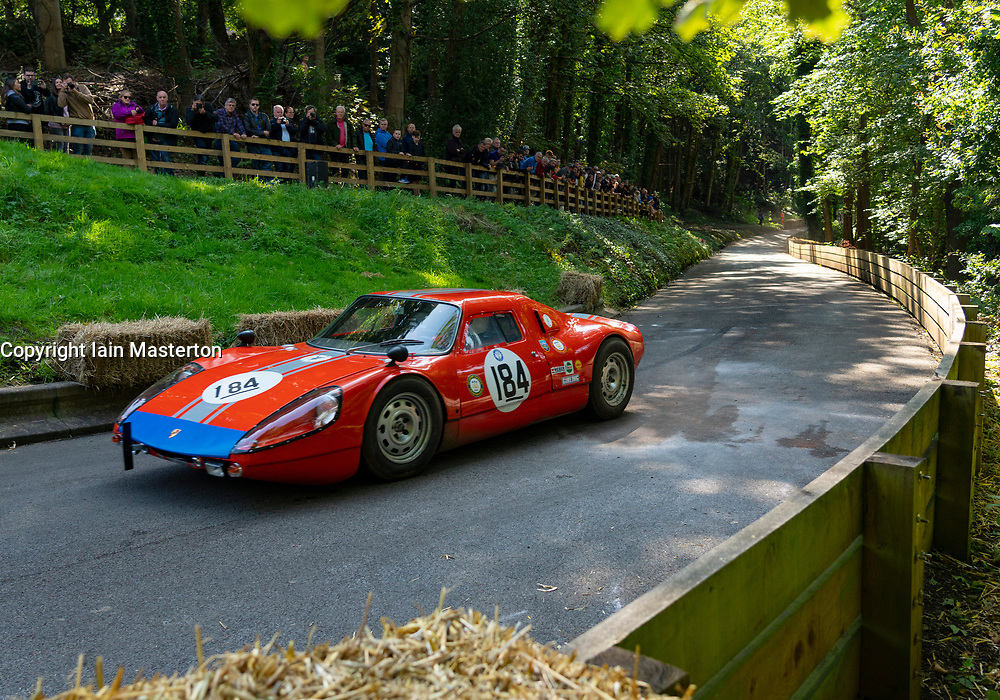 Boness Revival hillclimb motorsport event in Boness, Scotland, UK. The 2019 Bo'ness Revival Classic and Hillclimb, Scotland's first purpose-built motorsport venue, it marked 60 years since double Formula 1 World Champion Jim Clark competed here.  It took place Saturday 31 August and Sunday 1 September 2019. 184 Bill Drysdale Porsche 904FF Special