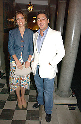 SHEHERAZADE GOLDSMITH and LUCA DEL BONO at the Quintessentially Summer Party held at Debenham House, 8 Addison Road, London W14 on 15th June 2006.<br /><br />NON EXCLUSIVE - WORLD RIGHTS
