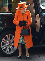 March 7, 2019 - London, London, United Kingdom - Queen Elizabeth. ..Her Majesty The Queen arrives at the Science Museum in London, to announce its summer exhibition, Top Secret, and unveil a new space for supporters, to be known as the Smith Centre. (Credit Image: © Gustavo Valiente/i-Images via ZUMA Press)