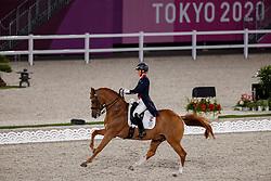 TOKYO - Olympische Spiele / Olympic Games 2021<br /> <br /> DUJARDIN Charlotte (GBR), Gio<br /> Grand Prix de Dressage<br /> <br /> Tokio, Equestrian Park<br /> 25. July 2021<br /> © www.sportfotos-lafrentz.de/Dirk Caremans