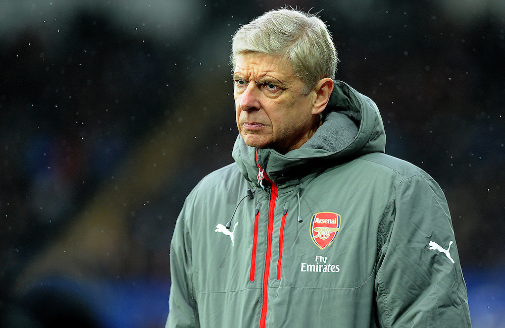 Arsenal manager Arsene Wenger in action<br /> <br /> Photographer /Ashley Crowden CameraSport<br /> <br /> The Premier League - Swansea City v Arsenal  - Saturday 14th January 2017 - Liberty Stadium - Swansea <br /> <br /> World Copyright © 2017 CameraSport. All rights reserved. 43 Linden Ave. Countesthorpe. Leicester. England. LE8 5PG - Tel: +44 (0) 116 277 4147 - admin@camerasport.com - www.camerasport.com