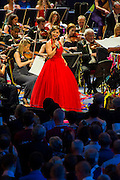 The Last Night of the BBC Proms at the Royal Albert Hall, London -  With the usual wide range of popular music including - a Mary Poppins medley, Ol Man River, the Sabre Dance, Rule Britannia, Pomp and Circumstance and Jerusalem. Performed by conductor, Sakari Oramo, the BBC Symphony Orchestra, Chorus and Singers with soloists including Ruthie Henshall (pictured). PRESS ASSOCIATION Photo. Picture date: Saturday September 13, 2014. Photo credit should read: Guy Bell/PA Wire