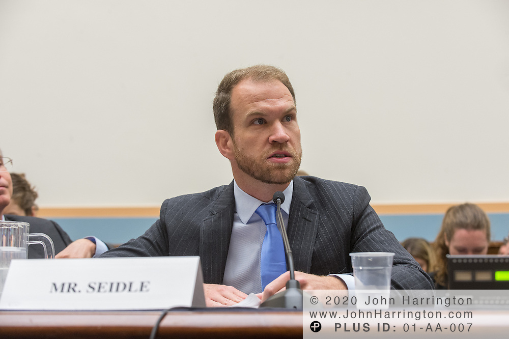"""Nathan Seidle, CEO, SparkFun Electronics Inc., testifies before the House Committe on the Judiciary on """"Innovation in America: The Role of Technology"""", August 1, 2013on Capitol Hill in Washington, DC."""