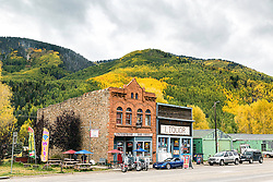 Rico Colorado, a cool old mining town in the San Juan Mountains bathed in the golden splendor of autumn.