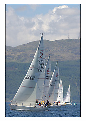 Bell Lawrie Series Tarbert Loch Fyne - Yachting.The third day's inshore races, which transpired to be the last...GBR8856Y Mayrise with the Sigma 33 fleet heading upwind from their start.