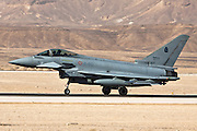 Italian Air force Eurofighter Typhoon at take off
