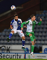 Blackburn Rovers' Bradley Johnson battles with Millwall's Jed Wallace<br /> <br /> Photographer Dave Howarth/CameraSport<br /> <br /> The EFL Sky Bet Championship - Blackburn Rovers v Millwall - Wednesday 2nd December 2020 - Ewood Park - Blackburn<br /> <br /> World Copyright © 2020 CameraSport. All rights reserved. 43 Linden Ave. Countesthorpe. Leicester. England. LE8 5PG - Tel: +44 (0) 116 277 4147 - admin@camerasport.com - www.camerasport.com