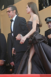 U.S. actor Brad Pitt and wife Angelina Jolie arrive for the screening of 'Tree of Life' at 64th Cannes Film Festival, in Cannes, France, on May 16, 2011. Photo by Ammar Abd Rabbo/ABACAPRESS.COM
