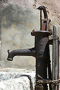 Old water pump at the Church of the Holy Sepulchre, Old city, Jerusalem, Israel