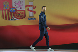 February 23, 2019 - Abu Dhabi, United Arab Emirates - Alejandro Valverde from Team Movistar from Spain, during the Team Presentation, at the opening ceremony of the 1st UAE Tour, inside Louvre Abu Dhabi museum..On Saturday, February 23, 2019, Abu Dhabi, United Arab Emirates. (Credit Image: © Artur Widak/NurPhoto via ZUMA Press)
