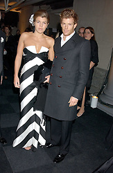 AMBER NUTTALL and top chef TOM AIKENSat the Conservative Party's Black & White Ball held at Old Billingsgate, 16 Lower Thames Street, London EC3 on 8th February 2006.<br /><br />NON EXCLUSIVE - WORLD RIGHTS