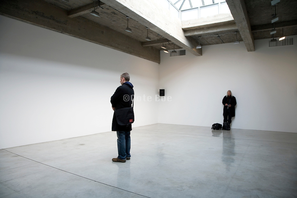 people listening to a sound installation in the Tanya Bonakdar Gallery