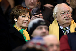 Delia Smith and Michael Wynn-Jones in the stands