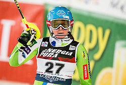 "Marusa Ferk (SLO) reacts in finish area during 2nd Run of FIS Alpine Ski World Cup 2017/18 Ladies' Slalom race named ""Snow Queen Trophy 2018"", on January 3, 2018 in Course Crveni Spust at Sljeme hill, Zagreb, Croatia. Photo by Vid Ponikvar / Sportida"