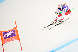 January 19, 2018 - Cortina D'Ampezzo, Dolimites, Italy - Denise Feierabend of Switzerland competes  during the Downhill race at the Cortina d'Ampezzo FIS World Cup in Cortina d'Ampezzo, Italy on January 19, 2018. (Credit Image: © Rok Rakun/Pacific Press via ZUMA Wire)