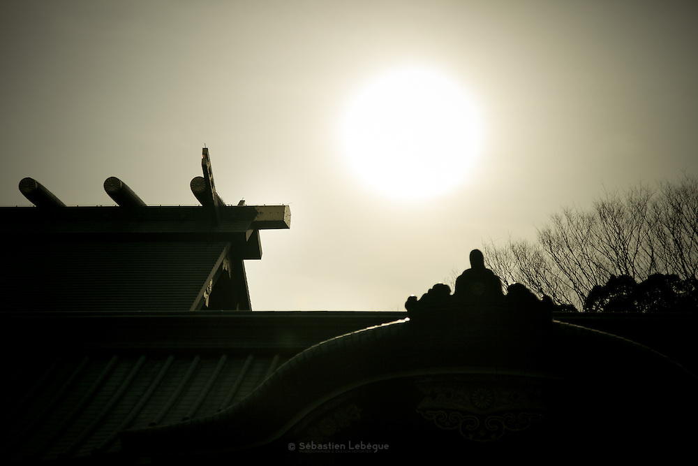 Japan - Tokyo - Yasukuni Jinja - is a shrine dedicated to the soldiers and others who died fighting on behalf of the Emperor of Japan - Temple dédié à la mémoire des soldats disparu ou mort pour le Japon et l'empereur.
